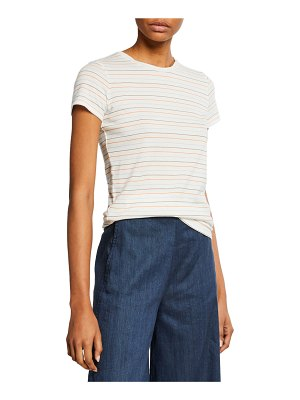 Vince Multi Stripe Essential Cotton T-Shirt
