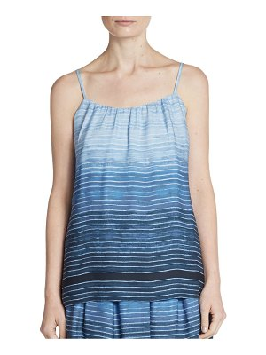 Vince Ombré-Striped Silk Camisole