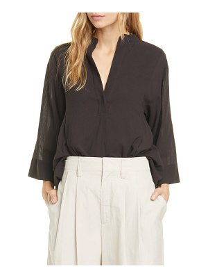 Vince paneled bell sleeve popover blouse