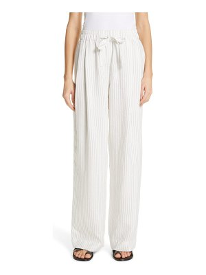 Vince pencil stripe drawstring pants