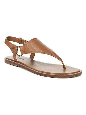 Vince Pharis Flat Leather Slingback Thong Sandals