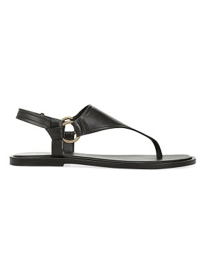 Vince pharis slingback leather thong sandals