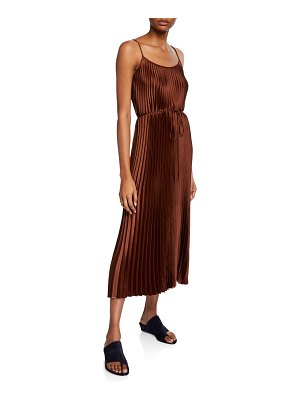 Vince Pleated Cami Maxi Dress