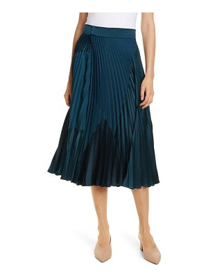 Vince pleated mixed media skirt