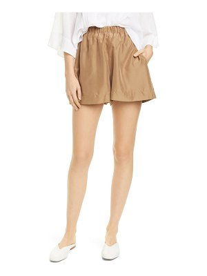 Vince pleated pull-on shorts