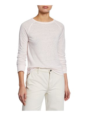 Vince Raglan-Sleeve Linen Sweater
