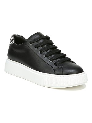 Vince Rhea Mixed Leather Low-Top Sneakers