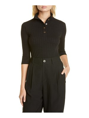 Vince ribbed button up top