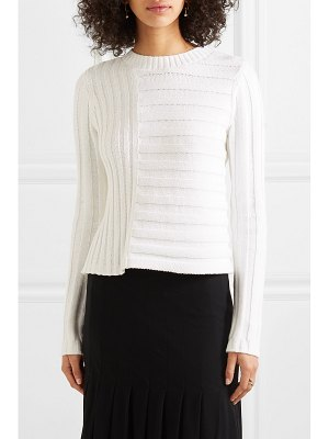 Vince ribbed cotton-blend sweater