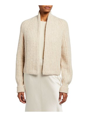 Vince Ribbed Cropped Cardigan