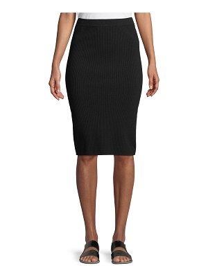 Vince Ribbed Knit Body-Con Skirt