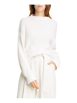 Vince ribbed mock neck wool & cashmere sweater