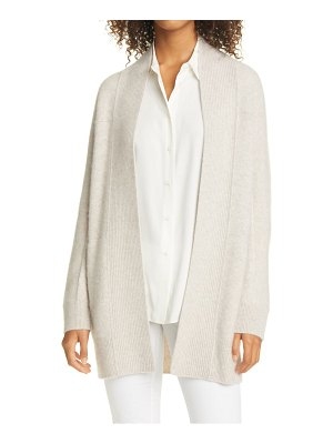 Vince ribbed open cashmere cardigan