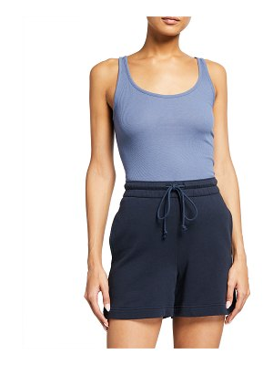 Vince Ribbed Scoop-Neck Tank