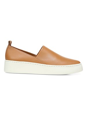 Vince saxon leather platform sneakers
