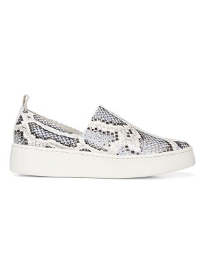 Vince saxon snakeskin-embossed leather platform sneakers