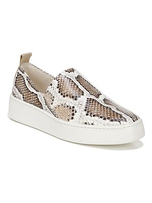 Vince Saxon2 Snake-Print Leather Slip-on Sneakers