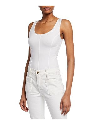 Vince Seamed Scoop-Neck Bodysuit