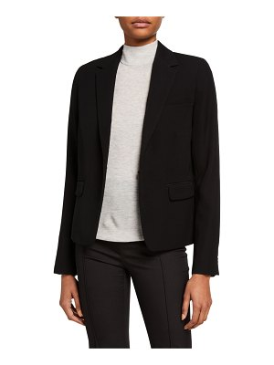 Vince Single-Button Crepe Blazer