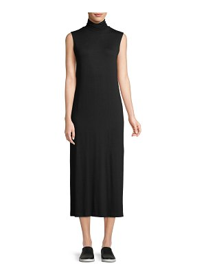 Vince Sleeveless Turtleneck Midi Dress