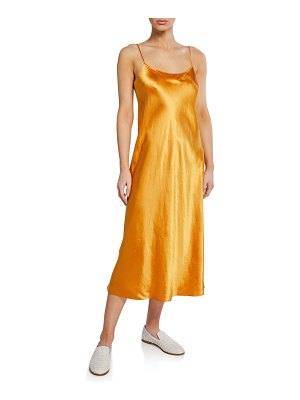 Vince Spaghetti-Strap Satin Slip Dress