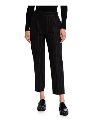 Vince Striped Flannel Pull-On Pants