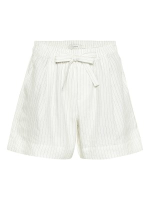 Vince striped linen-blend shorts