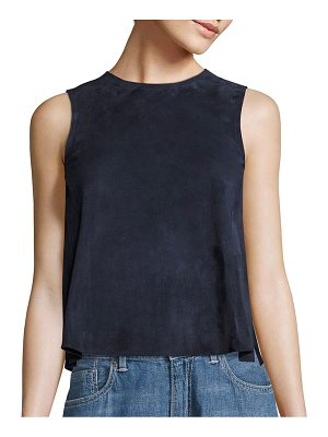 Vince Suede Crop Shell