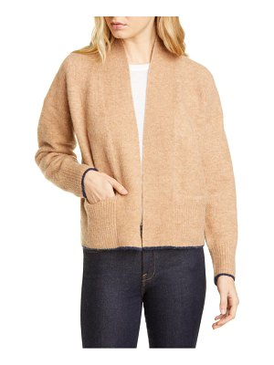 Vince tipped merino wool & alpaca blend cardigan