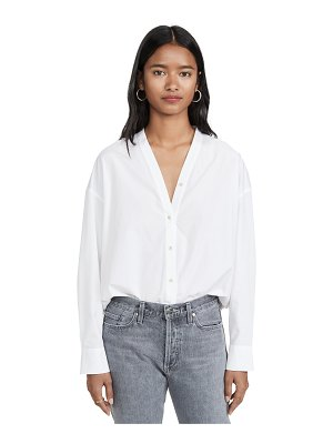 Vince v neck button down