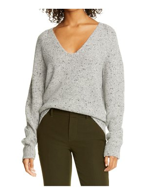 Vince v-neck nep wool blend sweater