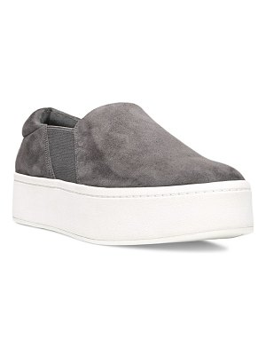 Vince warren slip-on platform suede sneakers