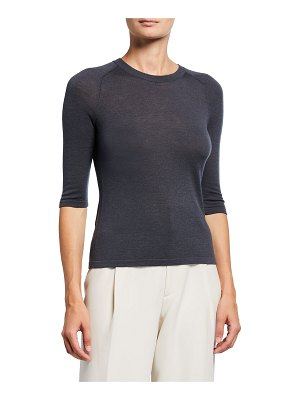 Vince Wool-Blend Elbow-Sleeve Sweater