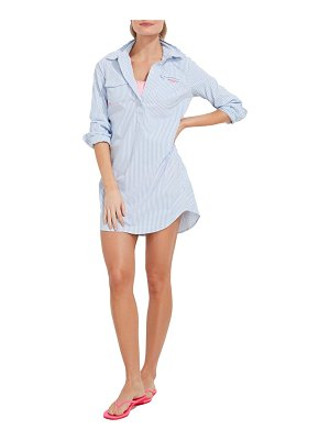 Vineyard Vines harbor seersucker long sleeve cover-up shirtdress