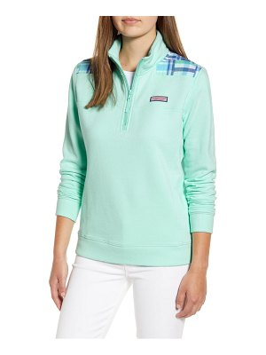 Vineyard Vines madras patchwork classic shep pullover