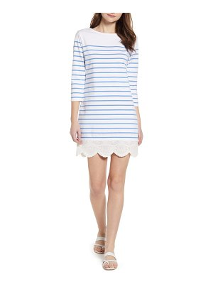 Vineyard Vines stripe lace hem cotton dress