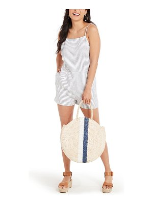 Vineyard Vines stripe linen romper