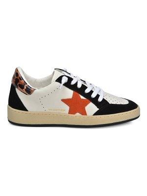 Vintage Havana Star Patch Leather & Suede Sneakers