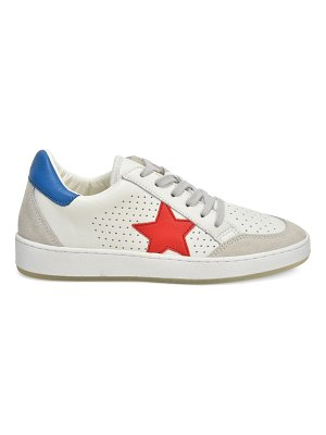 Vintage Havana Star Patch Perforated Leather Sneakers