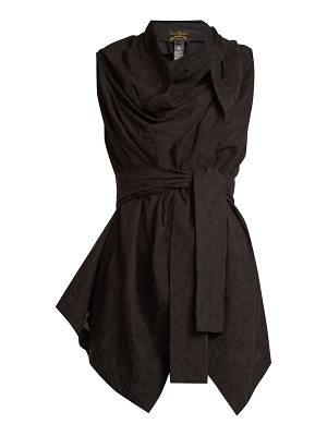 VIVIENNE WESTWOOD ANGLOMANIA Square-neck tie-waist broderie-anglaise top