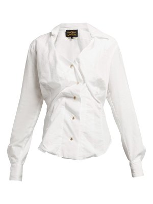 VIVIENNE WESTWOOD ANGLOMANIA Twisted Cotton Blouse