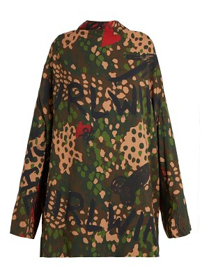 Vivienne Westwood Floral, Graffiti And Camouflage Print Tunic