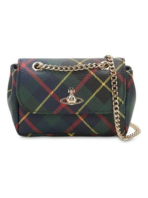 Vivienne Westwood Mini derby tartan coated canvas bag