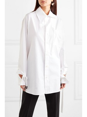 Vivienne Westwood oversized cotton-poplin shirt
