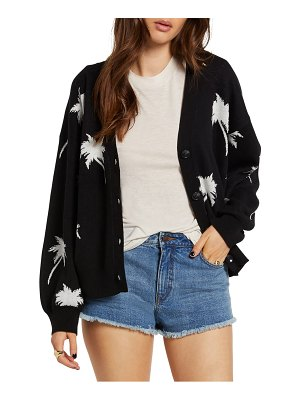 Volcom coco palm pattern cardigan