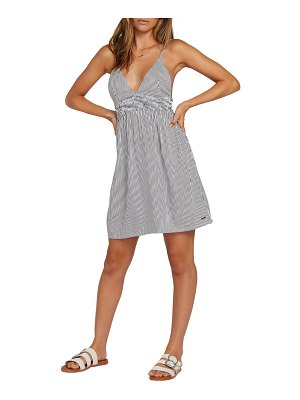 Volcom smock of segulz stripe minidress