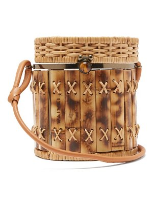 WAI WAI bongo bamboo and wicker basket bag