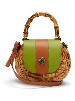 WAI WAI marina wicker cross body bag