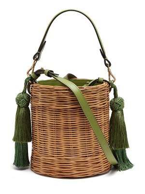 WAI WAI Sabia Wicker Bucket Bag