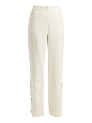 WALES BONNER buttoned wool-blend trousers